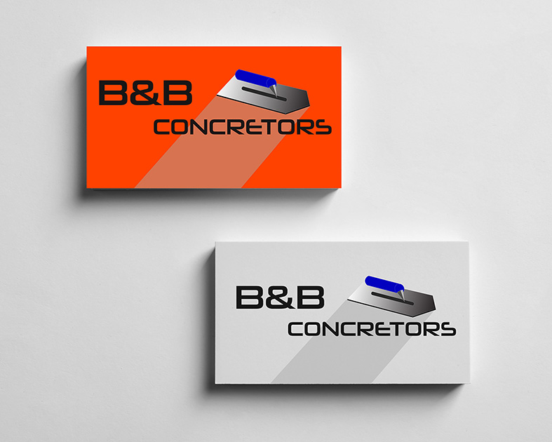 Concretor logo printed onto business card