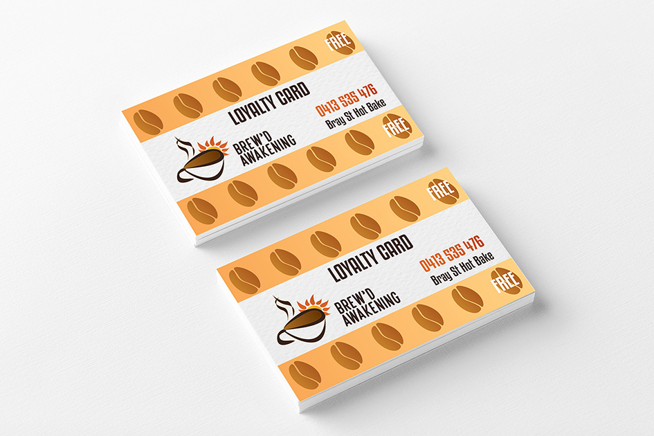Custom graphic design coffee business card